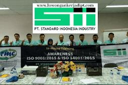 Lowongan kerja PT Standart Indonesia Industri (SII) Via Email