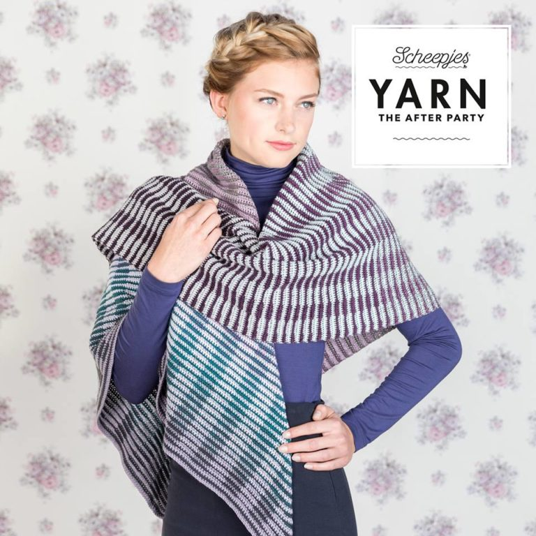 Crochet Between the Lines Shawl - crochet pattern by CanaDutch