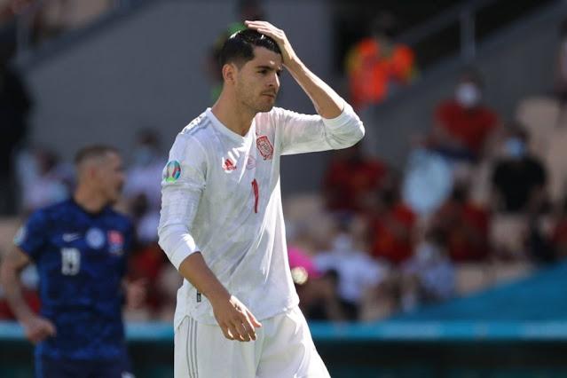 Spain striker Alvaro Morata - Euro 2020