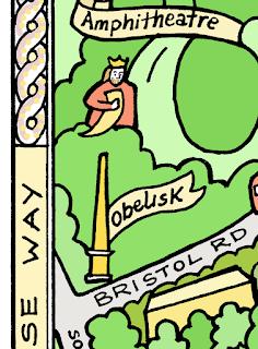 kbmorgans illustrated hand drawn maps