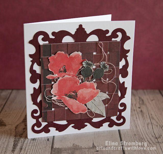 Card with a weaved background