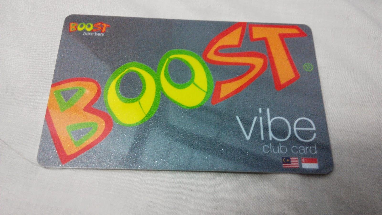 Boost Vibe Club Card