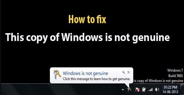 """How to Fix """"This copy of Windows is not genuine"""" Error"""