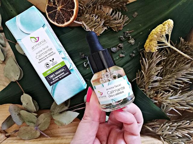 aceite facial Armonía cosmética natural belleza beauty tratamiento skincare