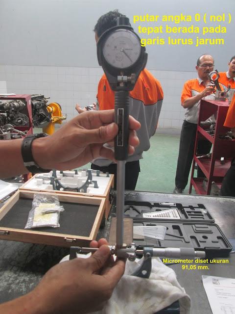 kalibrasi angka nol pada cylinder bourgauge