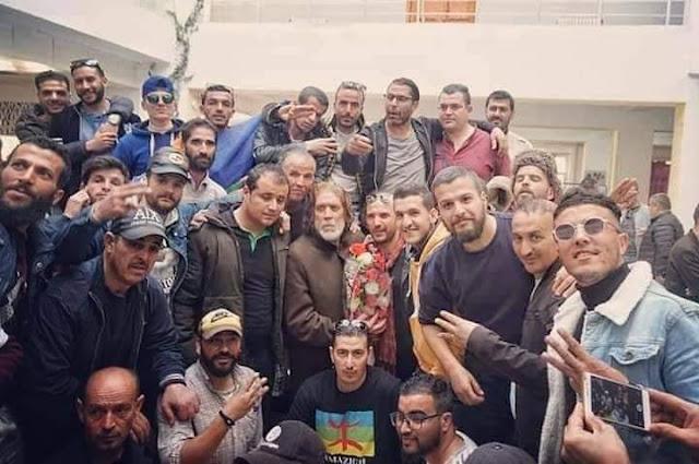 زيارة تضامن للفنان الامازيغي الشاوي جمال صابري ـ صور