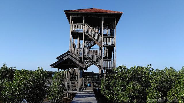 Gardu Pandang di Mangrove Karimunjawa menjulang tinggi