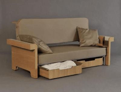 furniture untuk rumah kecil, sofa