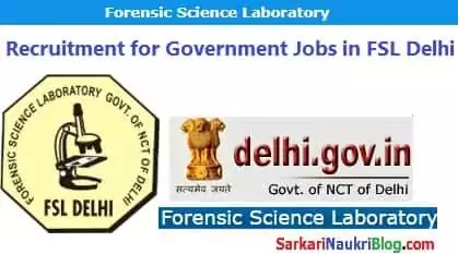 Delhi Forensic Science Lab Recruitment