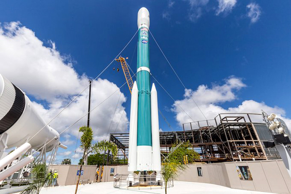 A retired Delta 2 launch vehicle is now on display in the Rocket Garden at the Kennedy Space Center Visitor Complex in Florida...as of March 23, 2021.