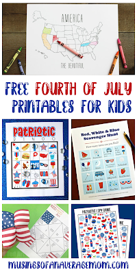 Fourth of July printables for kids
