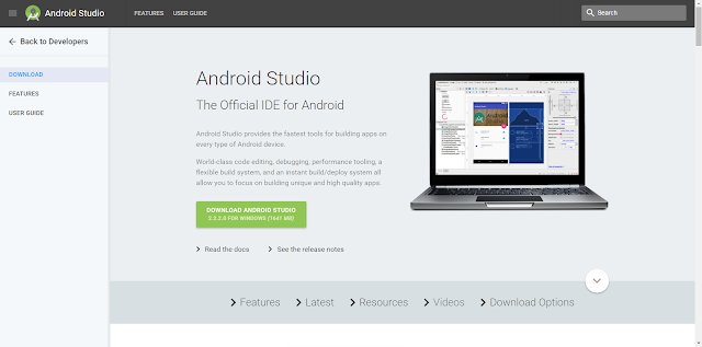 Android Studio Installation Page