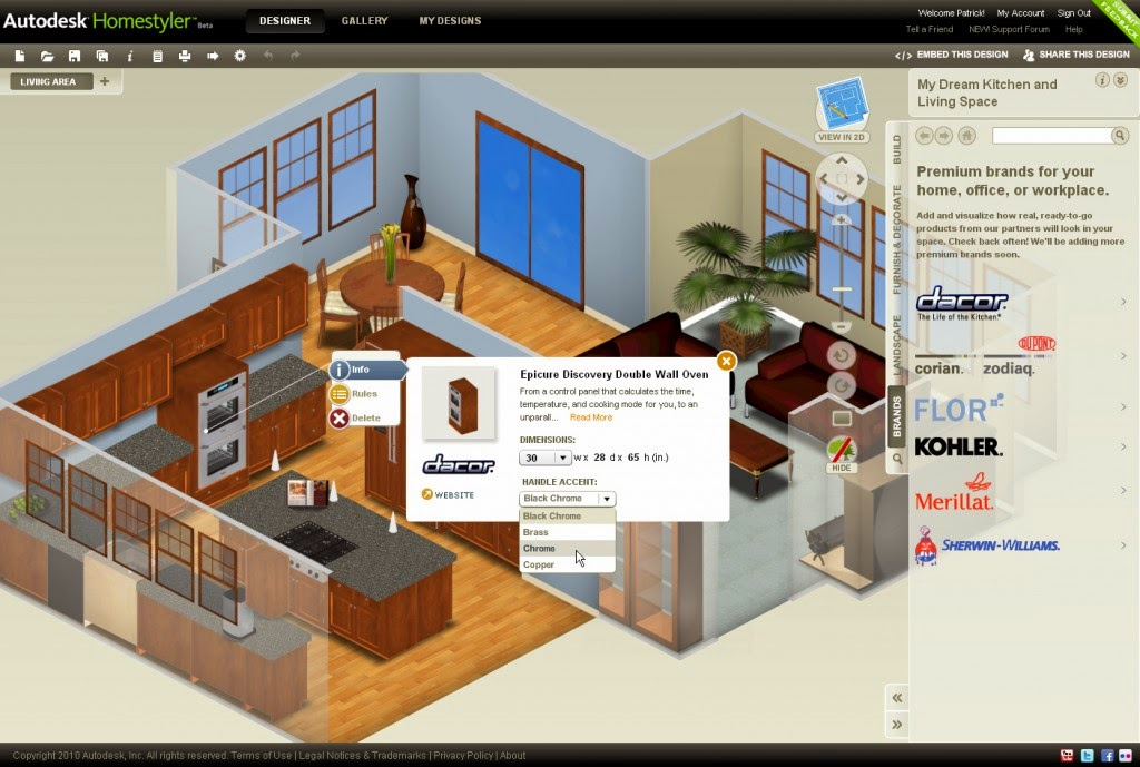 Home furniture design software the 3d spacer home - Interior design software mac ...