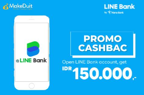 Cara Dapat Uang Cashback 150.000 dari Line Bank