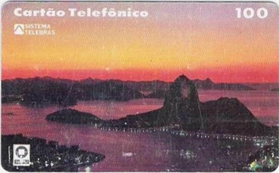 Cartão telefônico - Telerj - Pão de Açúcar