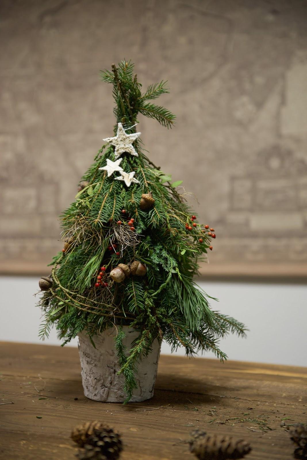 Workshop Rückblick Winterdeko aus Naturmaterialien von Kreativ-Natürlich-Ideenreich: Winterbäume Winterbaum selber machen mit tollen Materialien Ideen Inspirationen Kreativsein winterliche Deko und mehr gestalten