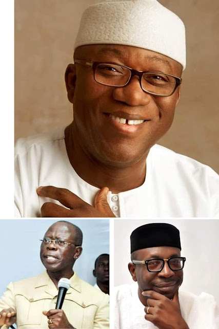 Ekiti Gov Kayode Fayemi who is APC Gov Forum not supporting Ize-Iyamu, Says Oshiomhole wants to make Edo his Personal Property