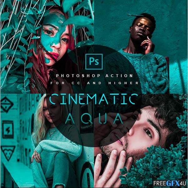 Cinematic Aqua Photoshop Action