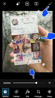 Cara edit foto instagram in hand picsart
