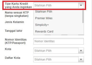petunjuk pengisian data aplikasi kartu kredit citibank