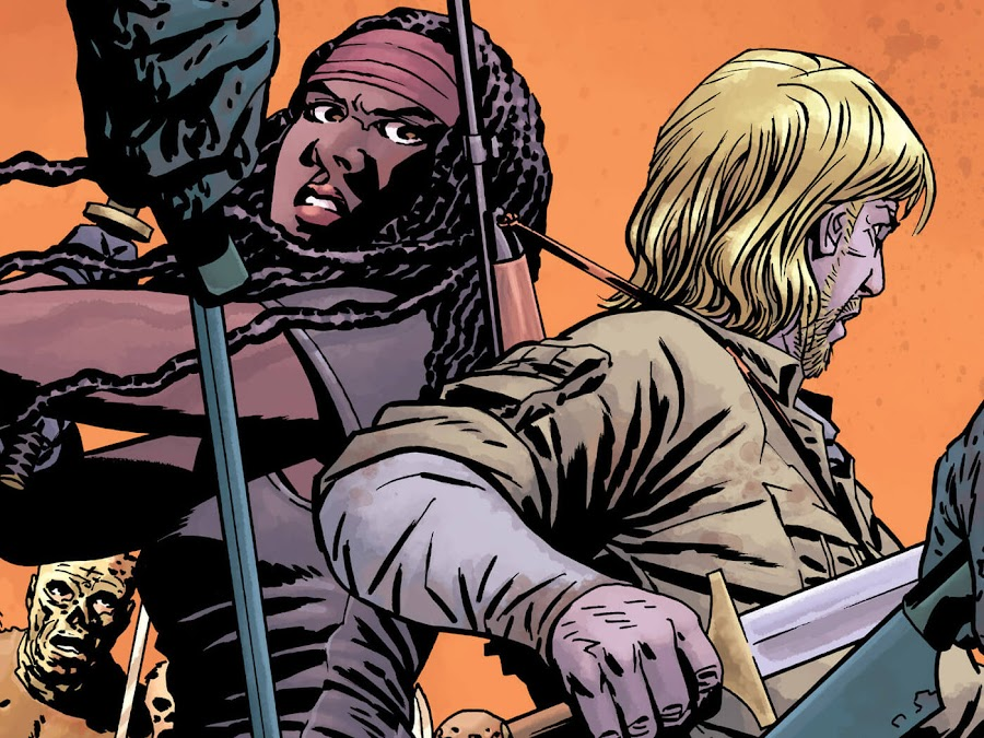 the walking dead call to arms image comics michonne and aaron twd