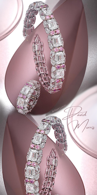 David Morris elegant, modern, pink Pirouette jewelry collection #brilliantluxury