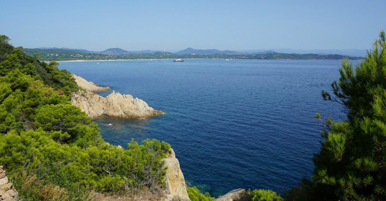 Pampelonne beach viewed from Cap Camarat