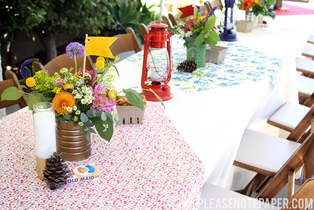 Please Note: Camping Theme Wedding Reception