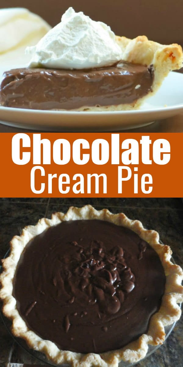 Chocolate Cream Pie with a Dairy Free Option from scratch is a favorite dessert recipe for Thanksgiving and Christmas from Serena Bakes Simply From Scratch.
