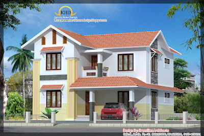 153 square meter (1648 sf.ft.) Villa Elevation