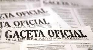 SUMARIO Gaceta Oficial Nº 41579  de fecha 5 de Febrero de 2019