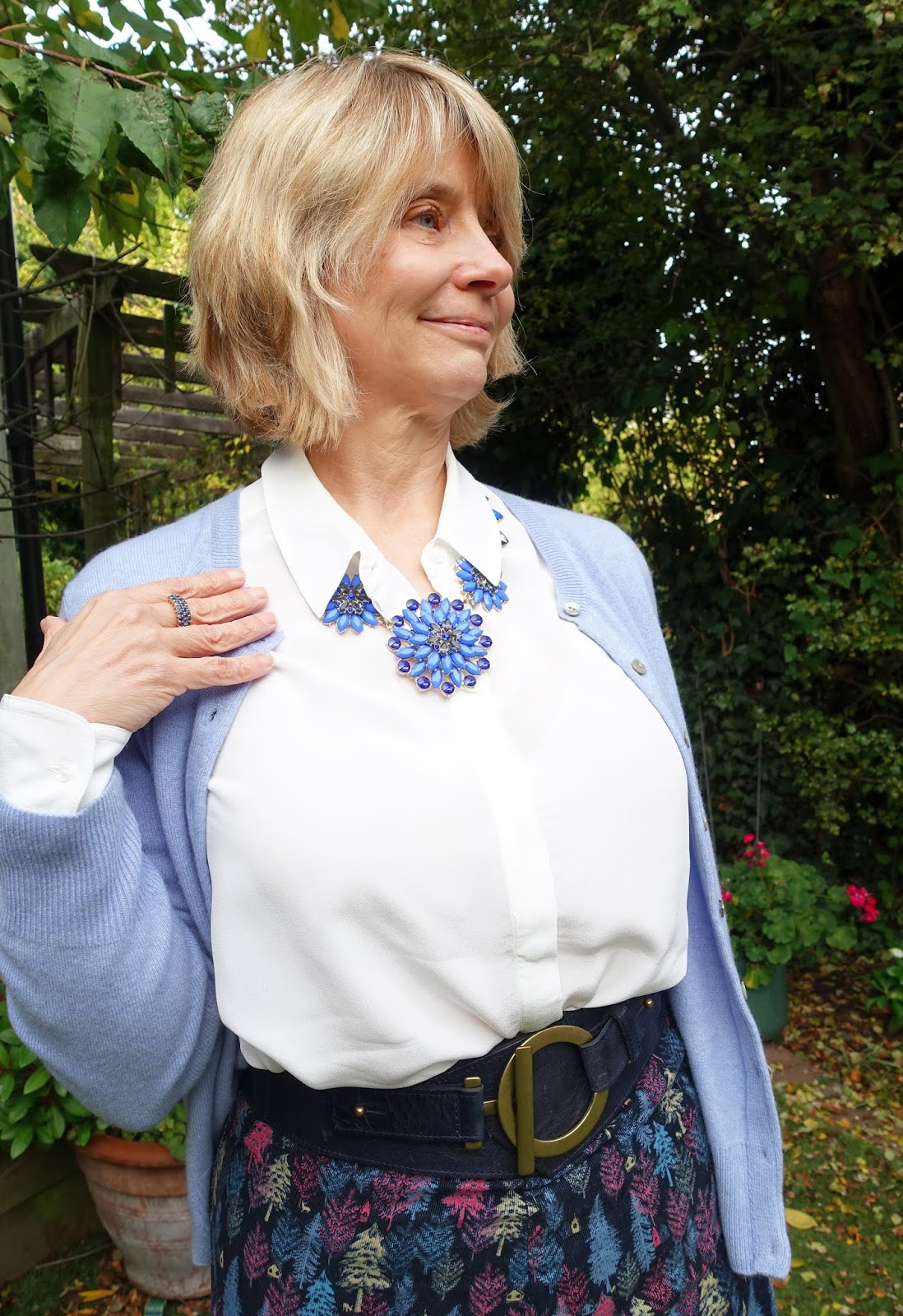 Is This Mutton blogger Gail Hanlon in an outfit transformed with three accessories