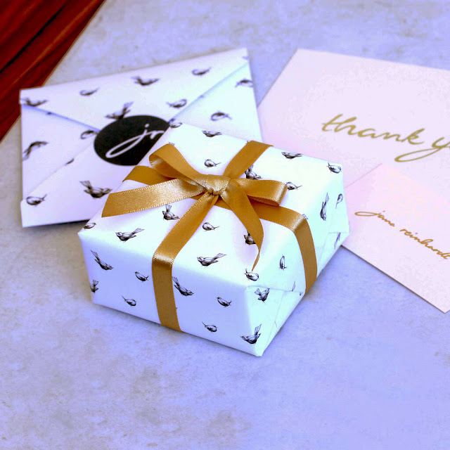 A small gift wrapped box