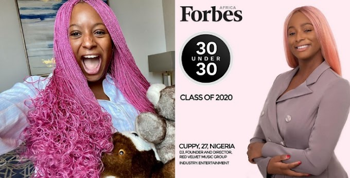 DJ Cuppy tops Forbes' 30 under 30 list for 2020