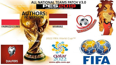 PES 2019 All National Teams Patch by Mars92 & Fabrizzio1985