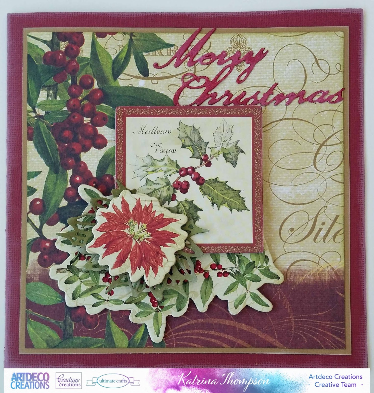 NEW 'Holly Edger/' Christmas Craft Cutting Die