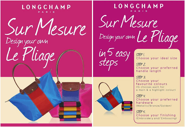 longchamp pavilion KL, new exclusive store, luxury handbag, Sur Mesure, personalize Le Pliage bag