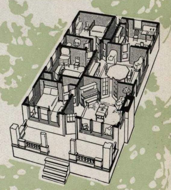 floorplan of Aladdin Franklin model as shown in the catalog
