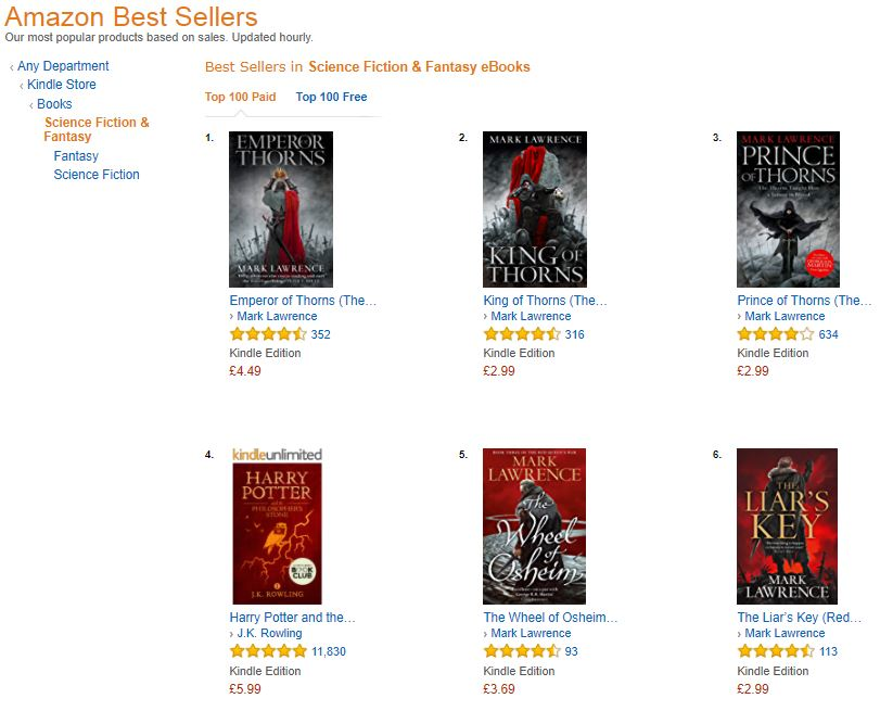 Mark lawrence 2017 oh and thanks to an amazon goldbox promotion xmas came early fandeluxe Images
