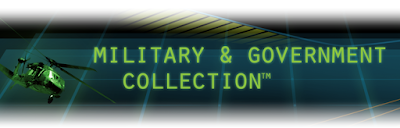 Militery and Government Collection (tm) database artwork: military helicopter fly8ing over a matrix