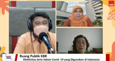 nara sumber dan host diskusi KBR dan PMI tentang vaksin covid 19