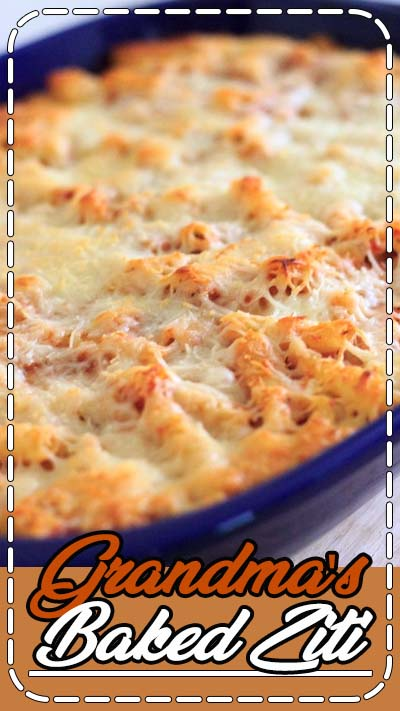 This vegetarian baked ziti will quickly become a family favorite. Easy comfort food that you can make ahead or freeze for later!