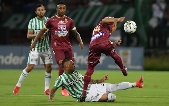 Increíble pero cierto: Después de 664 días y cinco partidos, DEPORTES TOLIMA volvió a perder ante Atlético Nacional