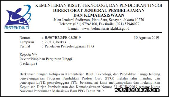 Daftar Universitas LPTK Penyelenggara PPG Mandiri 2019