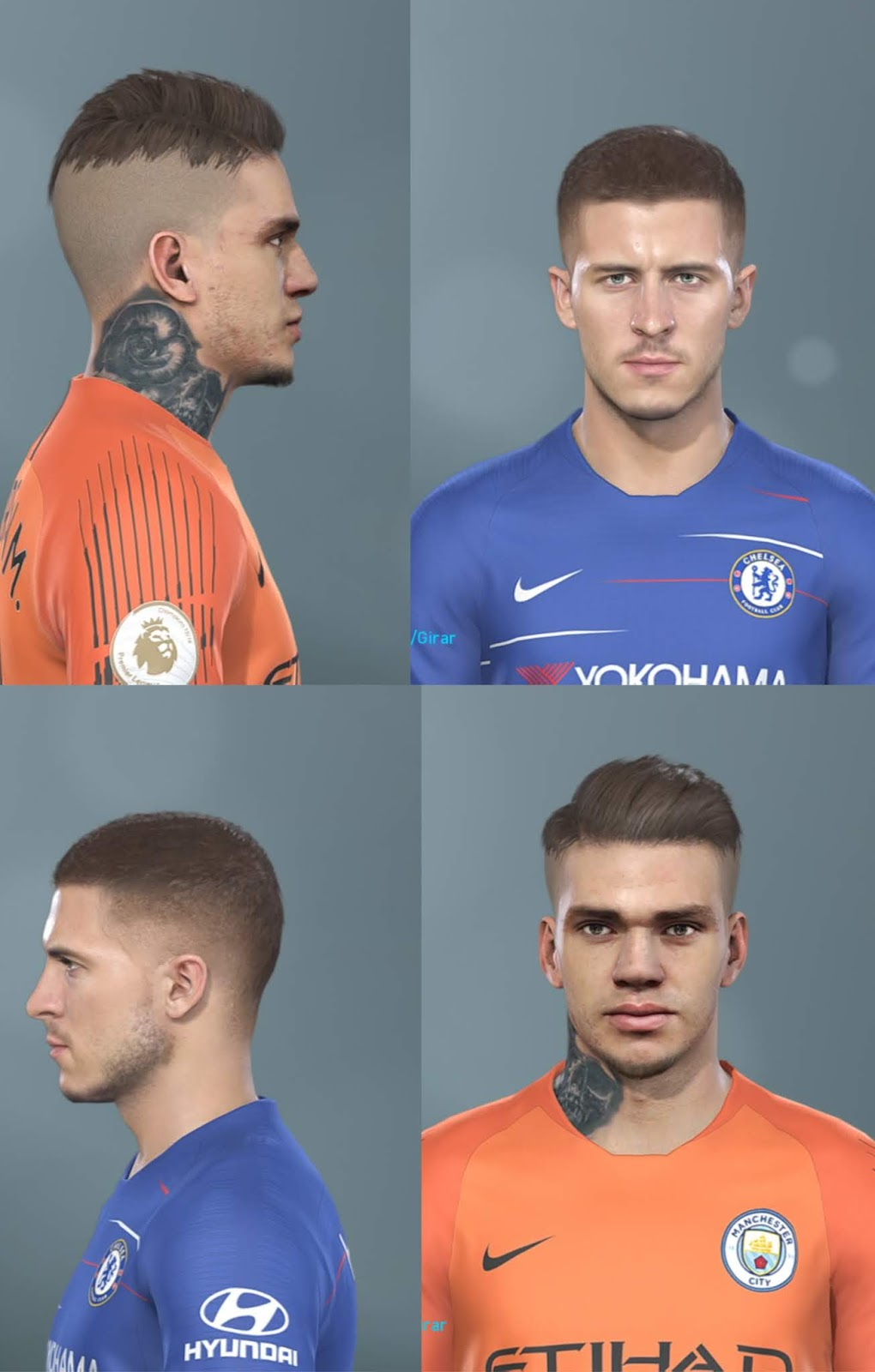 PES 2019 Hazard, Ederson hair update by Hugimen