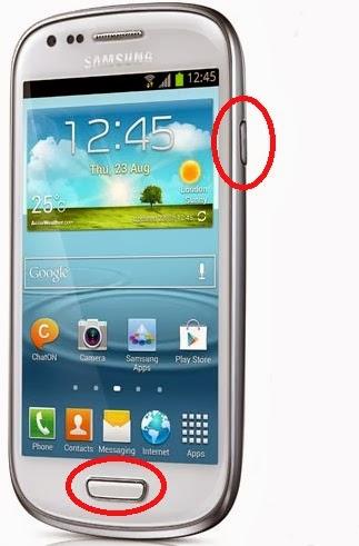 cara mengambil gambar capture di handphone android samsung