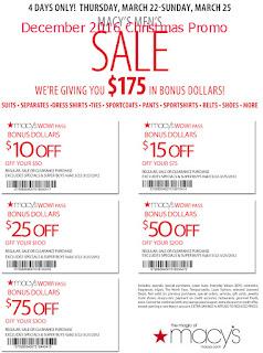 Macy's coupons december 2016