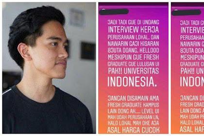 Fresh Graduate Tolak Digaji Rp8 Juta Viral, Komentar Kaesang Pangarep Buat Ngakak Warganet