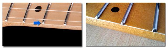 Extremo de los Trastes de la Guitarra Planos y Redondeados