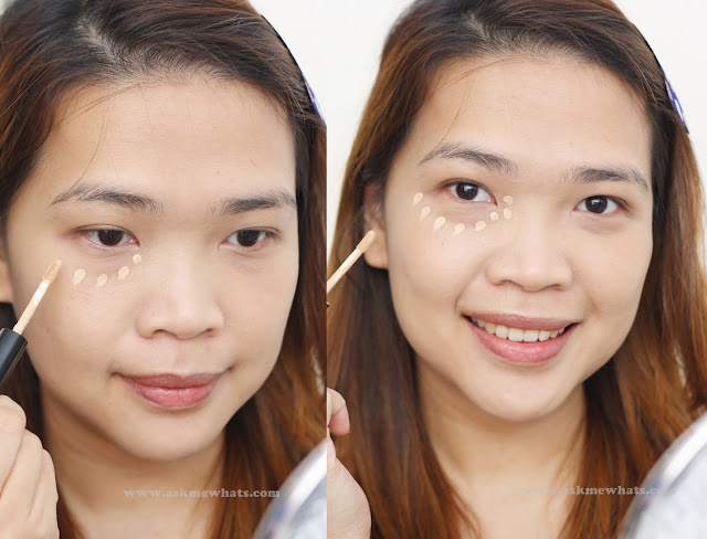 A photo on how to use  Missha Under Eye Brightener